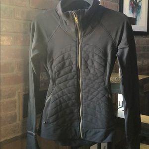 Black fitted Lululemon jacket